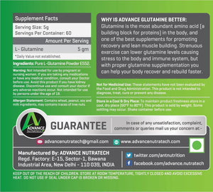 Advance Glutamine Powder (300g flav|unflav)