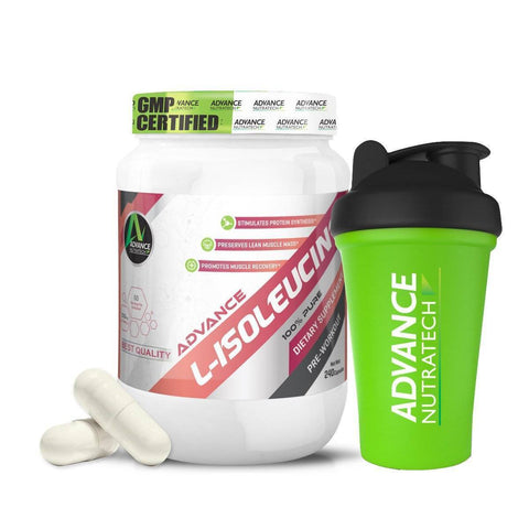 Image of L-ISOLEUCINE Amino Sports Supplement Capsules & Powder