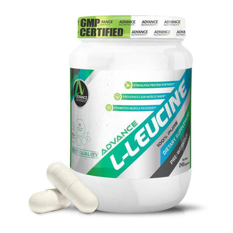 Image of L-LEUCINE Amino Sports Supplement Capsules & Powder