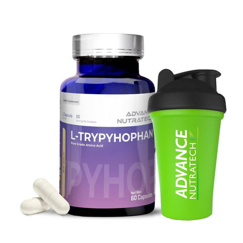 Image of L-Tryptophan Amino Sports Supplement Capsules