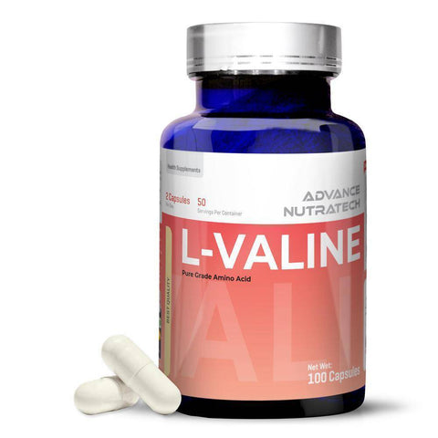 L-VALINE Amino Sports Supplement Capsules & Powder