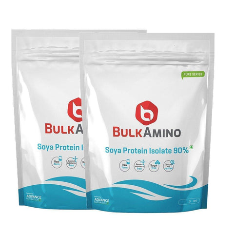 BulkAmino Soya Protein Isolate 90% Unflavoured Raw Powders - Brutecart