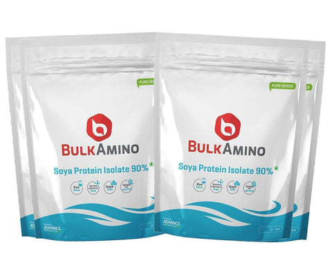 Image of BulkAmino Soya Protein Isolate 90% Unflavoured Raw Powders - Brutecart