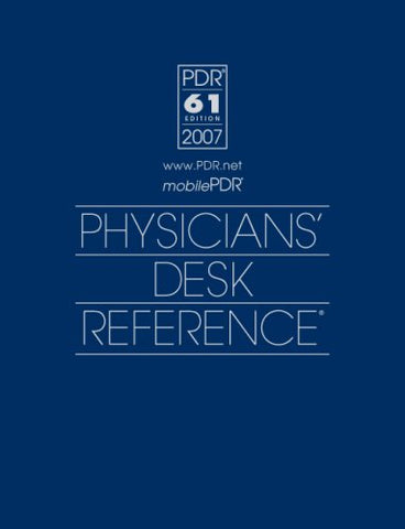 Physicians' Desk Reference 2007 (Physicians' Desk Reference (Pdr))