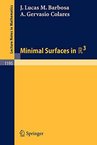 Minimal Surfaces In R 3 (Lecture Notes In Mathematics)