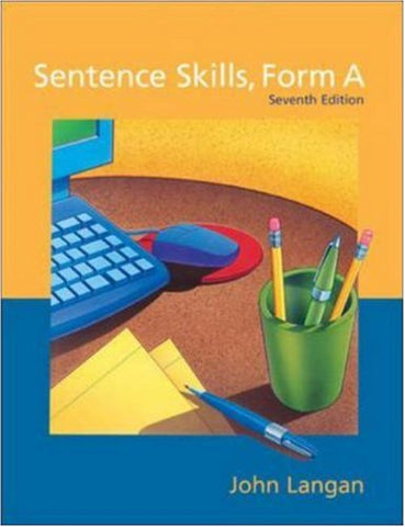 Sentence Skills: A Workbook For Writers, Form A