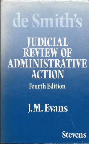 De Smith'S Judicial Review Of Administrative Action
