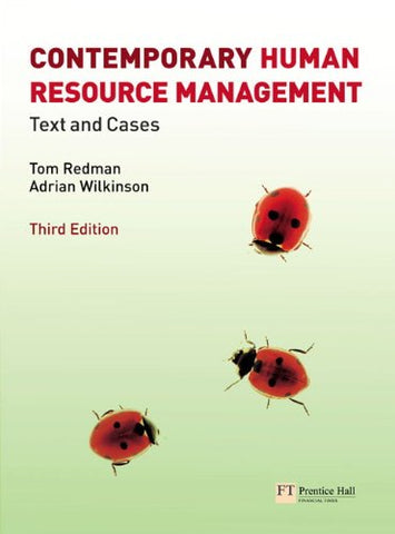Contemporary Human Resource Management: Text And Cases (3Rd Edition)