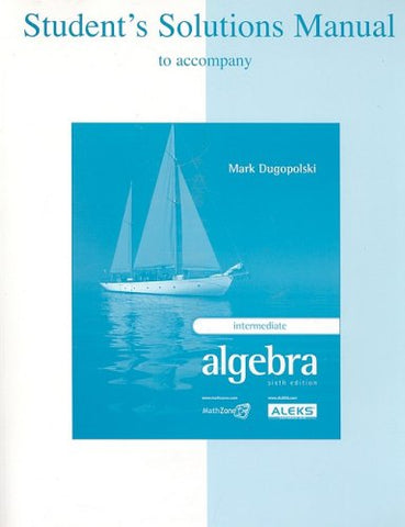 Student'S Solutions Manual For Use With Intermediate Algebra