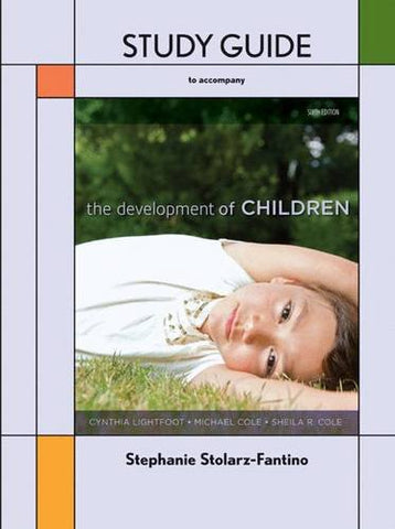 The Development Of Children Study Guide