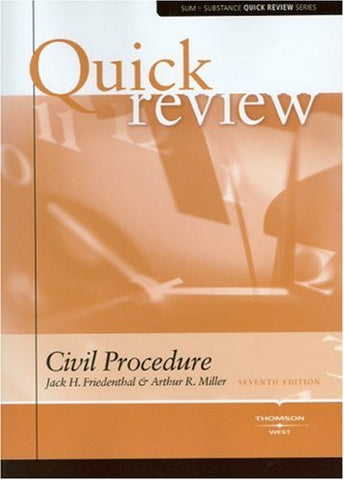 Sum And Substance Quick Review On Civil Procedure (Quick Reviews)