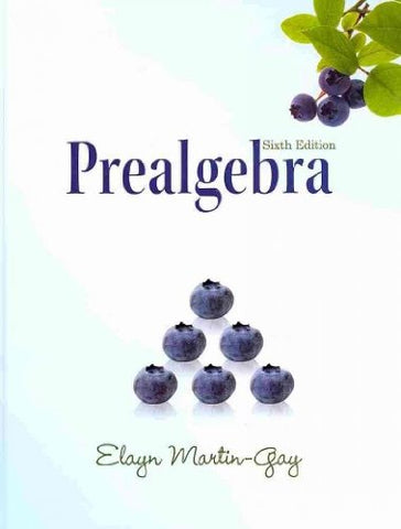 Prealgebra (Hardcover) (6Th Edition)