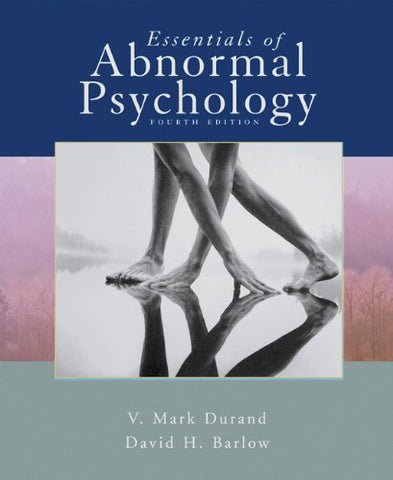 Essentials Of Abnormal Psychology (With Cd-Rom) (Available Titles Cengagenow)