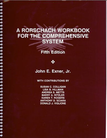 Rorschach Workbook For The Comprehensive System