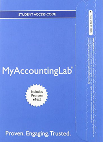 Horngren'S Financial & Managerial Accounting, The Financial Chapters, Student Value Edition And New Myaccountinglab With Pearson Etext -- Access Card Package (4Th Edition)