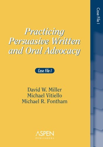 Practicing Persuasive Written And Oral Advocacy: Case File 1 (Problem Supplement)