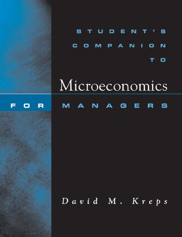 Student'S Companion: For Microeconomics For Managers