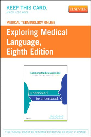 Medical Terminology Online For Exploring Medical Language (Access Code), 8E