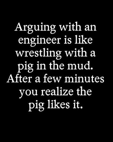 Arguing With An Engineer Is Like Wrestling With A Pig In The Mud After A Few Minutes You Realize The Pig Likes It: 110 Page Blank Lined Journal 8X10 Dad, Mom, Or Engineer Gift Idea