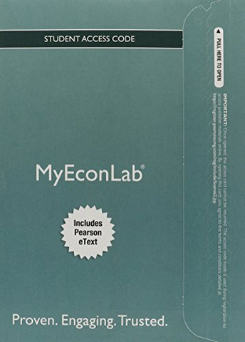 New Mylab Economics With Pearson Etext -- Access Card -- For Foundations Of Economics