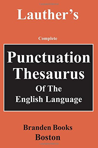 Punctuation Thesaurus Of The English Language (Institutions)