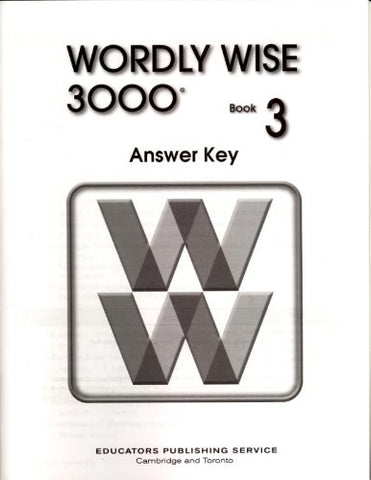 Wordly Wise 3000 Book 3 Answer Key