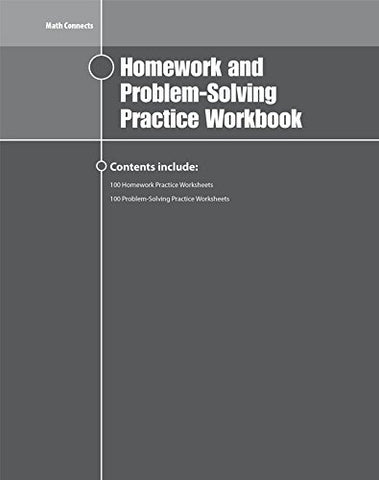 Math Connects Homework And Problem-Solving Workbook, Course 2 (Math Applic & Conn Crse)