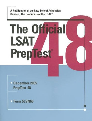 The Official Lsat Preptest 48