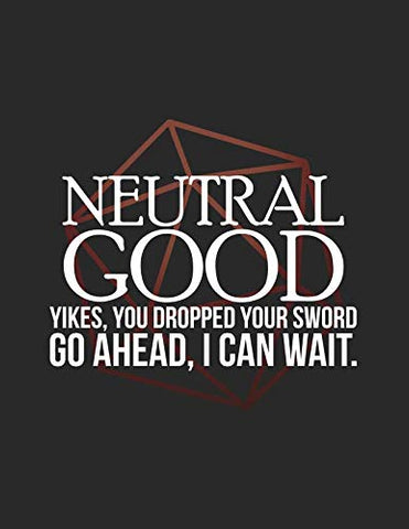 Neutral Good: Rpg Alignment Themed Mapping And Notes Note