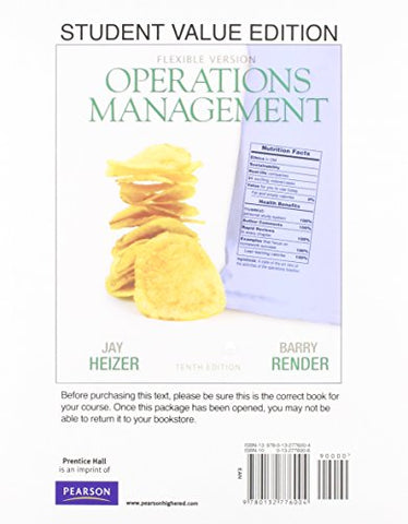 Operations Management, Flexible Version, Student Value Edition Plus New Mylab Operations Management With Pearson Etext - Access Card Package (10Th Edition)