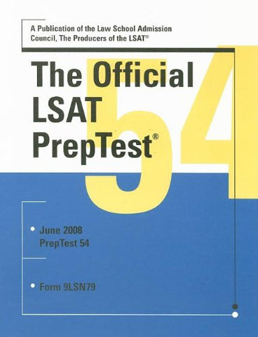 The Official Lsat Preptest 54