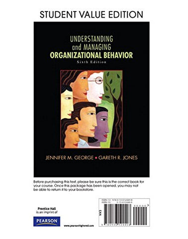 Understanding And Managing Organizational Behavior, Student Value Edition Plus 2014 Mylab Management With Pearson Etext -- Access Card Package (6Th Edition)