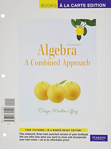 Algebra: A Combined Approach, Books A La Carte Plus Mml/Msl Student Access Code Card (For Ad Hoc Valuepacks) (4Th Edition)