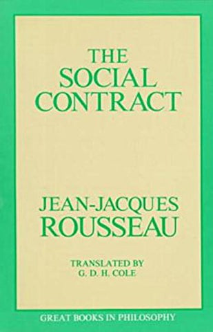 The Social Contract (Great Books In Philosophy)
