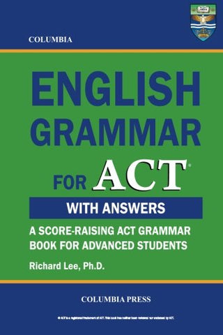 Columbia English Grammar For Act