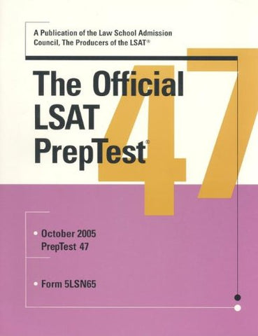 Official Lsat Preptest: Number 47