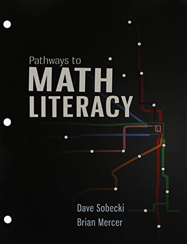 Pathways To Math Literacy With 18 Week Aleks Access Card