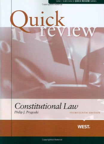 Sum And Substance Quick Review On Constitutional Law, 14Th (Sum + Substance Quick Review Series)