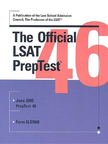 The Official Lsat Preptest 46