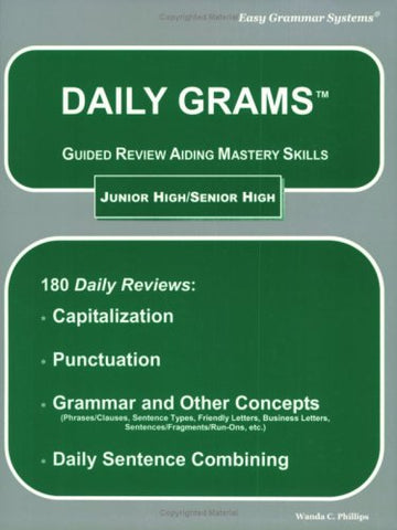 Daily Grams: Guided Review Aiding Mastery Skills Jr/Sr High