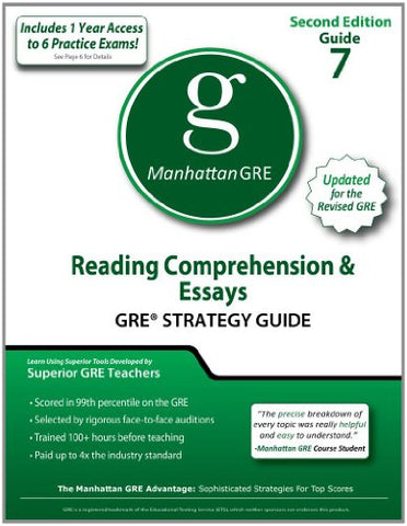 Reading Comprehension & Essays Gre Strategy Guide, 2Nd Edition (Manhattan Gre Strategy Guides)
