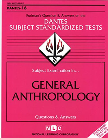 Dsst General Anthropology (Passbooks) (Dantes Subject Standardized Tests (Dantes))