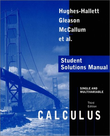 Student Solutions Manual To Accompany Calculus Si Ngle And Multivariable, 3E