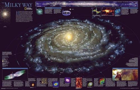 National Geographic: The Milky Way Wall Map - Laminated (31.25 X 20.25 Inches) (National Geographic Reference Map)