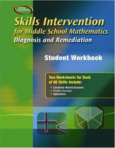 Skills Intervention For Middle School Mathematics: Diagnosis And Remediation, Student Workbook (Merrill Pre-Algebra)