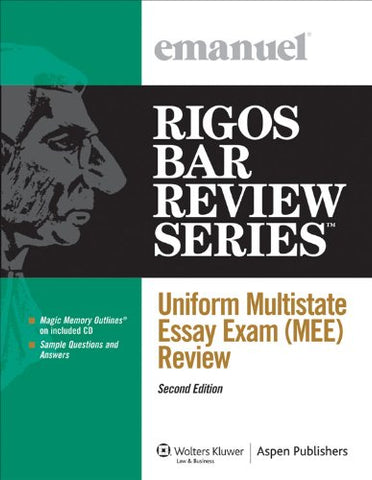 Uniform Multistate Essay Exam (Mee) Review, Second Edition (Rigos Bar Review Series)