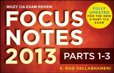 Wiley Cia Exam Review Focus Notes, Complete Set (Parts 1-3)