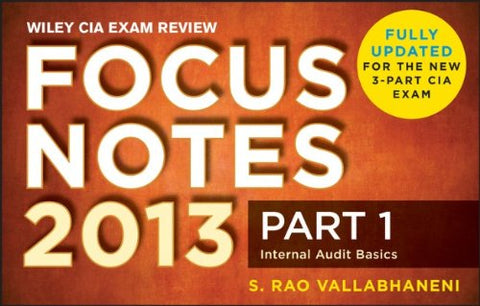 Wiley Cia Exam Review 2013 Focus Notes: Part 1, Internal Audit Basics