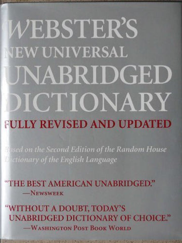 Webster'S New Universal Unabridged Dictionary: Fully Revised And Updated