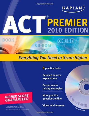 Kaplan Act 2010 Premier With Cd-Rom (Kaplan Act Premier Program)